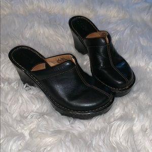 [Born] mule clogs